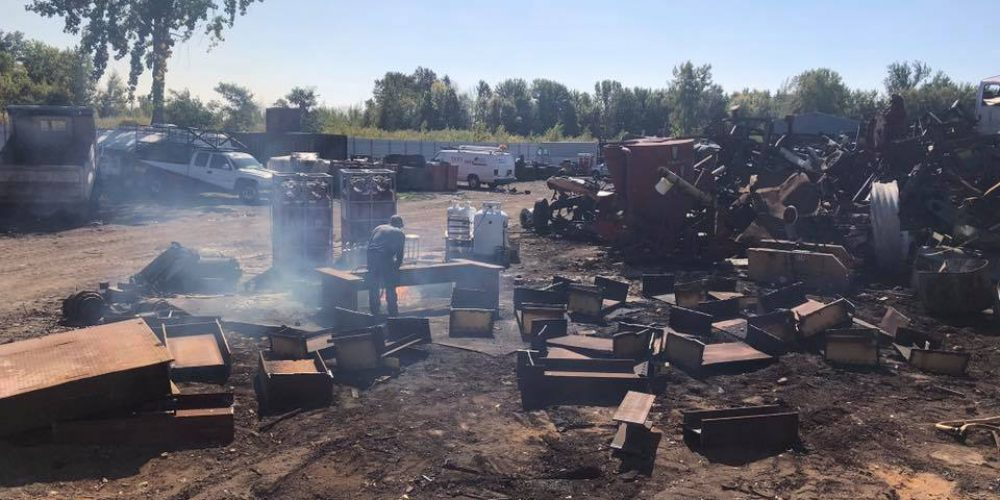 metal scrap yard